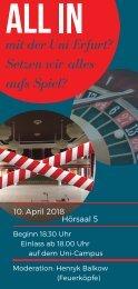 Podiumsdiskussion anlässlich der OB-Wahl - Flyer