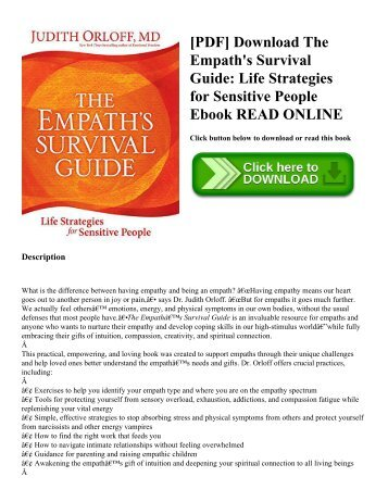 [PDF] Download The Empath's Survival Guide: Life Strategies for Sensitive People Ebook READ ONLINE