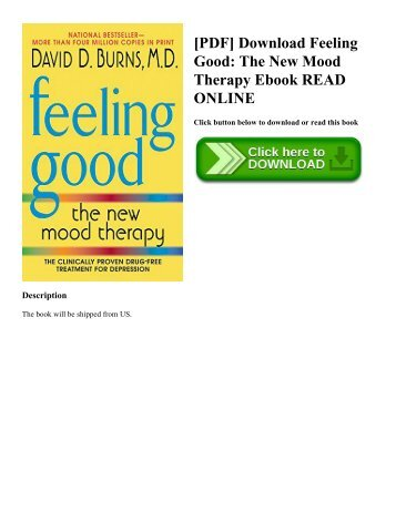 [PDF] Download Feeling Good: The New Mood Therapy Ebook READ ONLINE