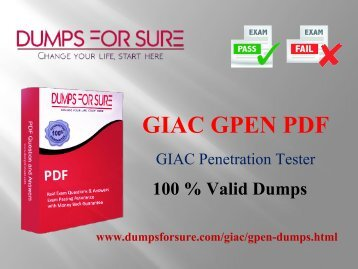 GIAC GPEN PDF braindumps