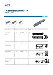 Broschüre Hydroblock