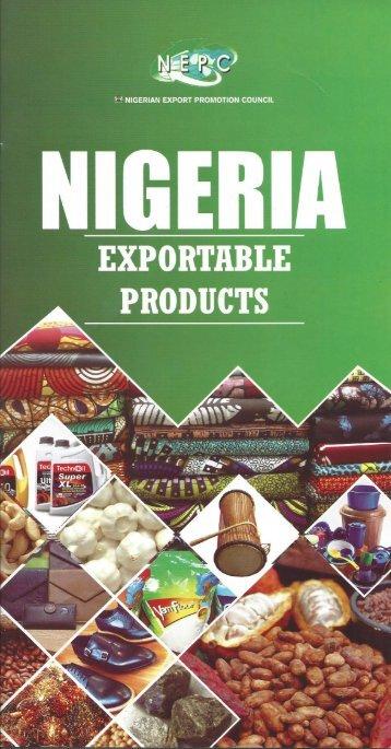 Nigeria Exportable Products