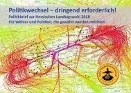 Politikbrief zur Hessischen Landtagswahl 2018 (Stand 22.03.2018)