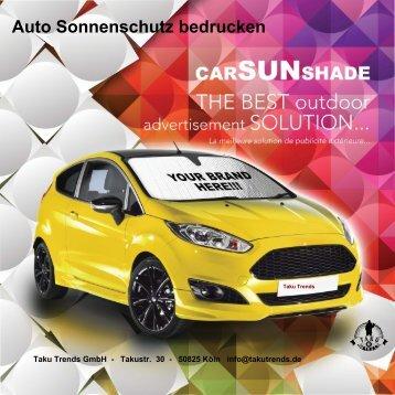 Auto Sonnenschutz bedrucken als Werbeartikel mit Logo