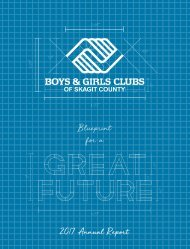 Boys & Girls Clubs of Skagit County 2017 Annual Report