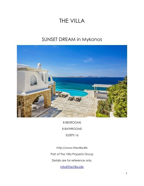 Sunset Dream - Mykonos