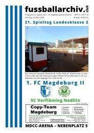 Programmheft 2017/18 - FSA-LK 2 - 1. FC Magdeburg II - SC Vorfläming Nedlitz