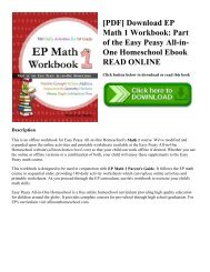 [PDF] Download EP Math 1 Workbook: Part of the Easy Peasy All-in-One Homeschool Ebook READ ONLINE