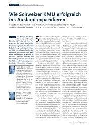 Wie Schweizer KMU erfolgreich ins Ausland expandieren - BGW AG