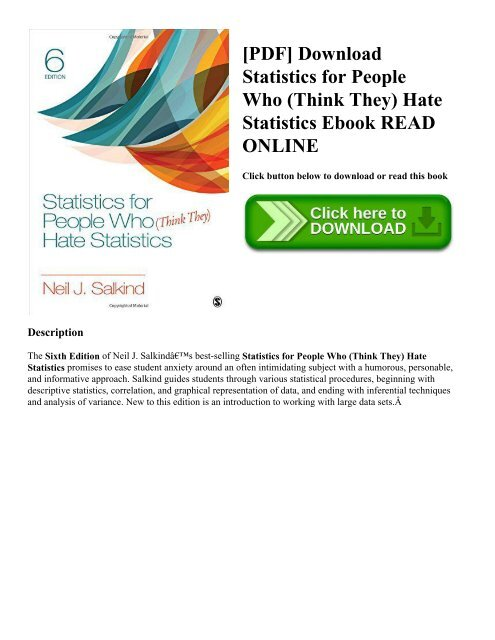 PDF] Download Statistics for People Who (Think They) Hate
