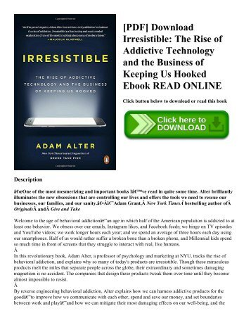 Pdf download swipe to unlock the non coders guide to technology pdf download irresistible the rise of addictive technology and the business of keeping fandeluxe Choice Image