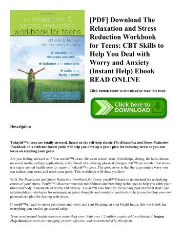 Pdf download the relaxation and stress reduction workbook for teens pdf download the relaxation and stress reduction workbook for teens cbt skills to fandeluxe Gallery