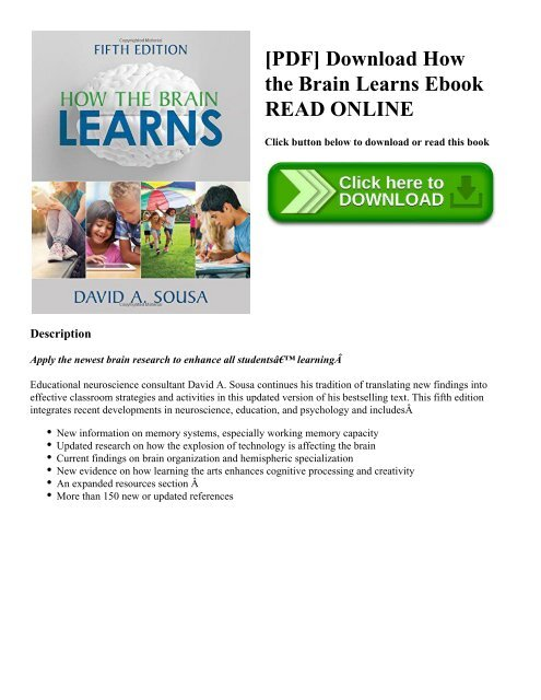 How The Brain Learns Pdf