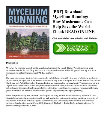[PDF] Download Mycelium Running: How Mushrooms Can Help Save the World Ebook READ ONLINE