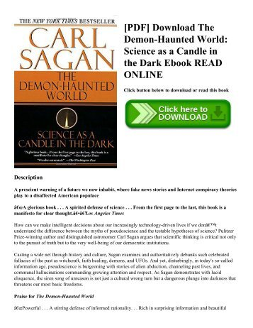 [PDF] Download The Demon-Haunted World: Science as a Candle in the Dark Ebook READ ONLINE