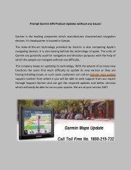 Garmin GPS Maps Update Toll Free Number 1800-215-732 GPS Help