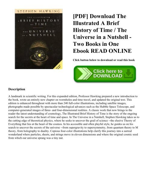 Of the pdf time a brief history illustrated