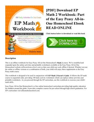 [PDF] Download EP Math 2 Workbook: Part of the Easy Peasy All-in-One Homeschool Ebook READ ONLINE