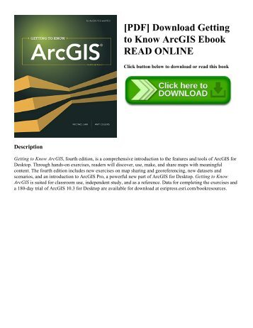[PDF] Download Getting to Know ArcGIS Ebook READ ONLINE