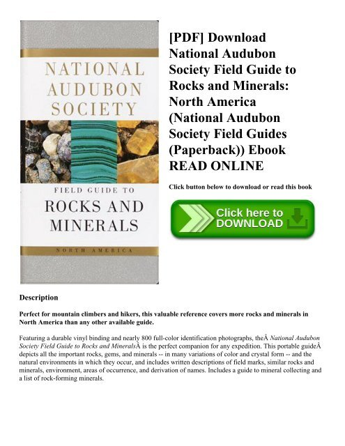 Download the audubon society field guide to north american rocks and ….