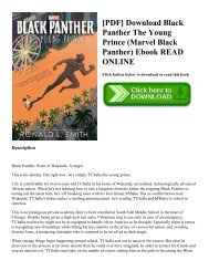 [PDF] Download Black Panther The Young Prince (Marvel Black Panther) Ebook READ ONLINE