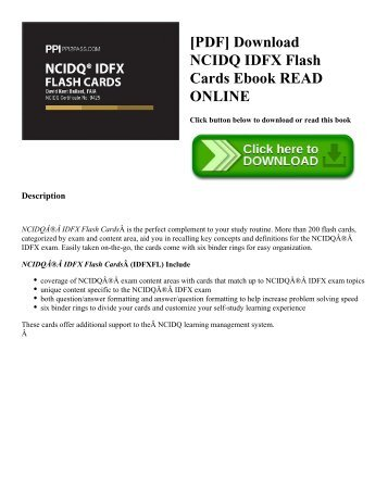 [PDF] Download NCIDQ IDFX Flash Cards Ebook READ ONLINE