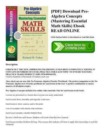 11.2 Concept Review & Math Skills
