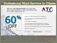 Professional Maid Service in Ottawa
