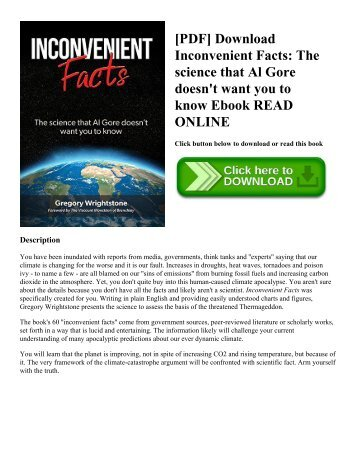 [PDF] Download Inconvenient Facts: The science that Al Gore doesn't want you to know Ebook READ ONLINE