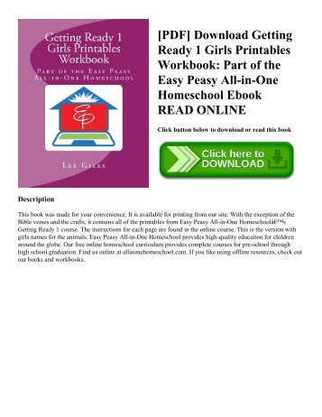[PDF] Download Getting Ready 1 Girls Printables Workbook: Part of the Easy Peasy All-in-One Homeschool Ebook READ ONLINE