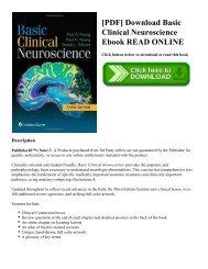 [PDF] Download Basic Clinical Neuroscience Ebook READ ONLINE