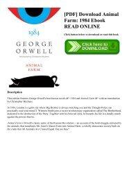 [PDF] Download Animal Farm: 1984 Ebook READ ONLINE