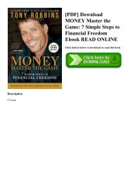 [PDF] Download MONEY Master the Game: 7 Simple Steps to Financial Freedom Ebook READ ONLINE