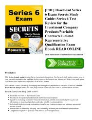 [PDF] Download Series 6 Exam Secrets Study Guide: Series 6 Test Review for the Investment Company Products/Variable Contracts Limited Representative Qualification Exam Ebook READ ONLINE
