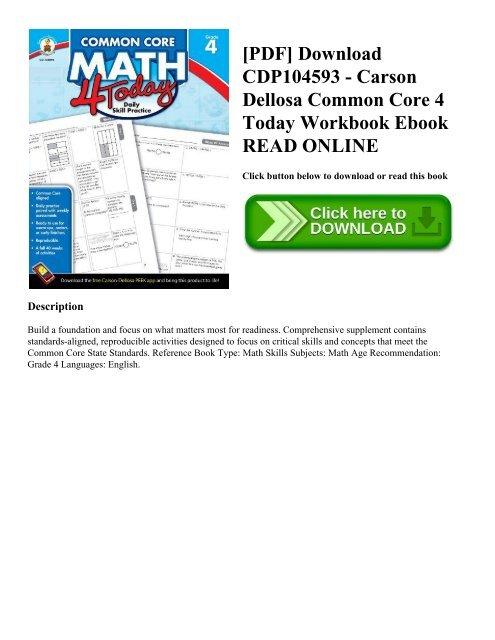 PDF] Download CDP104593 - Carson Dellosa Common Core 4 Today