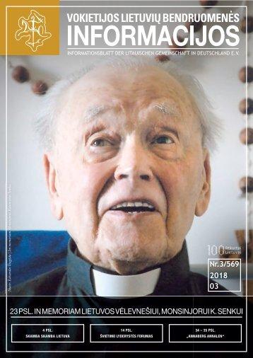 """VLB """"INFORMACIJOS"""", 2018 M. KOVAS, NR. 3/569"""