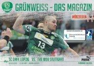 Gruenweiss- Spieltagsmagazin SC DHfK Leipzig vs. TVB 1898 Stuttgart