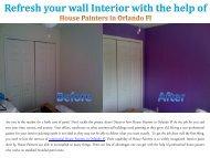 Orlando FL Interior Painters