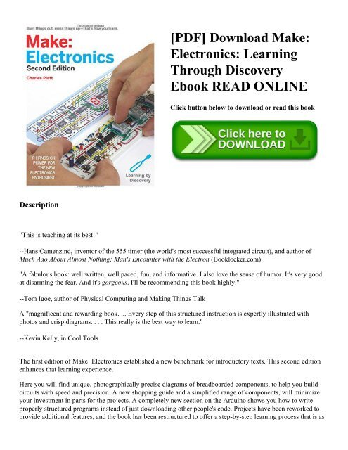 PDF] Download Make: Electronics: Learning Through Discovery
