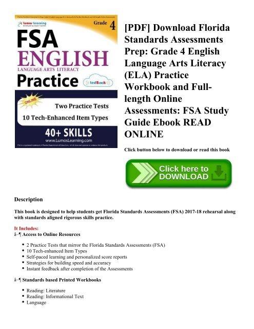 PDF] Download Florida Standards Assessments Prep: Grade 4