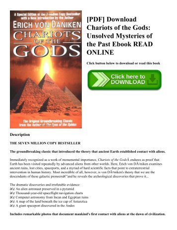 [PDF] Download Chariots of the Gods: Unsolved Mysteries of the Past Ebook READ ONLINE