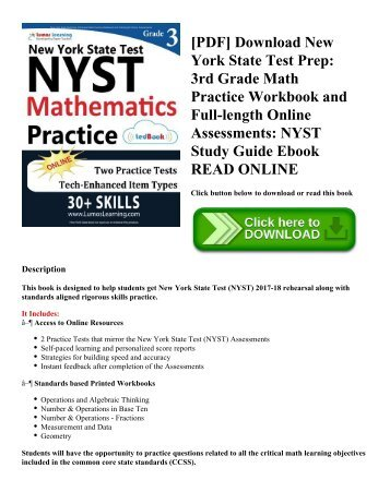 [PDF] Download New York State Test Prep: 3rd Grade Math Practice Workbook and Full-length Online Assessments: NYST Study Guide Ebook READ ONLINE
