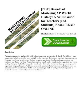 Pdf download guinness world records 2018 gamers edition the pdf download mastering ap world history a skills guide for teachers and fandeluxe Gallery
