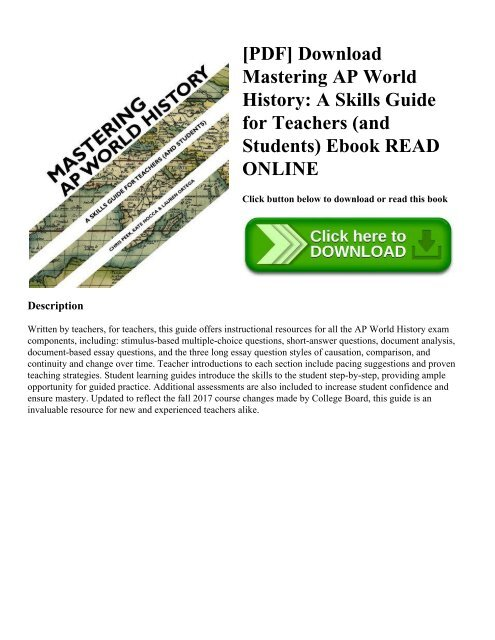 PDF] Download Mastering AP World History: A Skills Guide for