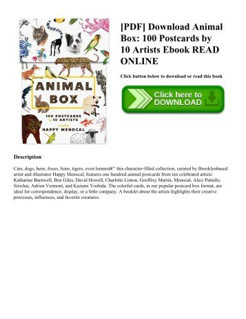 [PDF] Download Animal Box: 100 Postcards by 10 Artists Ebook READ ONLINE