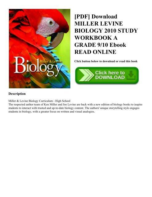 PDF Download MILLER LEVINE BIOLOGY 2010 STUDY WORKBOOK A
