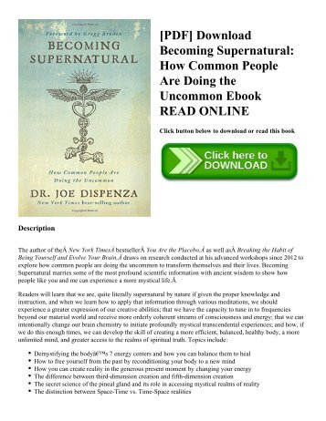 [PDF] Download Becoming Supernatural: How Common People Are Doing the Uncommon Ebook READ ONLINE