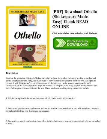 [PDF] Download Othello (Shakespeare Made Easy) Ebook READ ONLINE