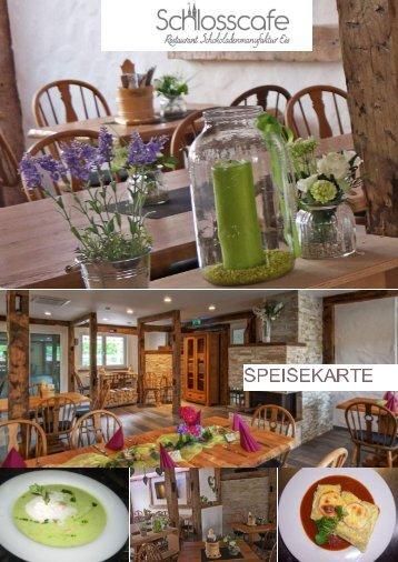 Speisekarte vom Schlosscafe Restaurant in Beuren