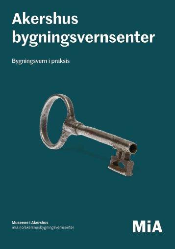 Akershus bygningsvernsenter brosjyre